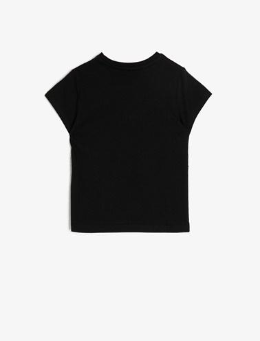 Koton Kids Bisiklet Yaka T-Shirt Siyah